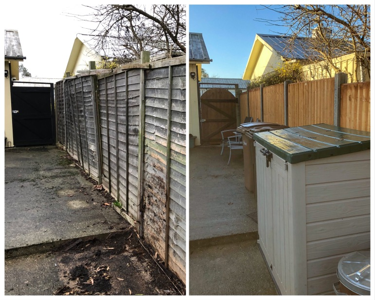 Replacing old fencing