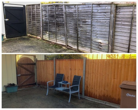 Replacing old fence and gate